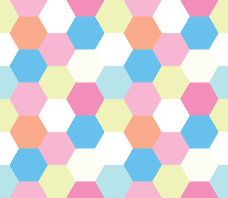 Seamless geometric pattern. Colorful infinity abstract honeycomb geometrical background.