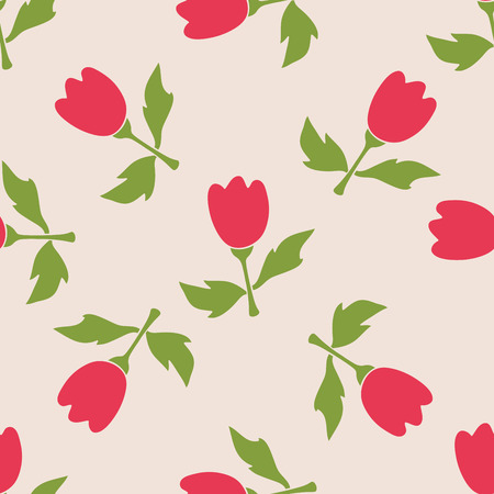 Seamless flower pattern. Natural background. Vector illustration. Иллюстрация
