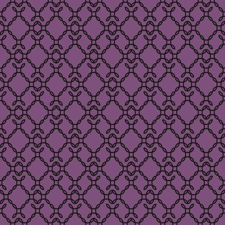 Elegant curly endless pattern. Seamless background. Damask.