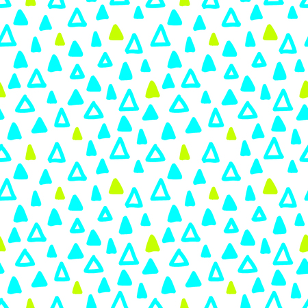 Seamless hand drawn geometric pattern. Seamless abstract doodle triangle geometrical background. Infinity geometric pattern. Vector illustration.
