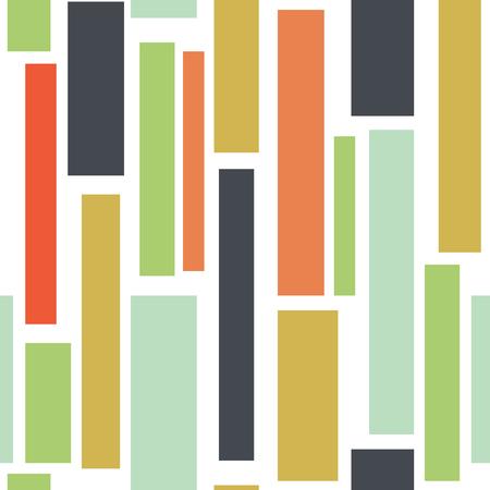 Abstrait sans couture avec des carrés, des lignes verticales. Motif géométrique infini. Illustration vectorielle. Vecteurs