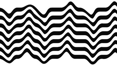 Abstract black and white stripped background. Glitch print. Vector illustration.