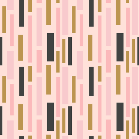Seamless abstract background with squares, vertical lines. Infinity geometric pattern. Vector illustration. Vektorové ilustrace