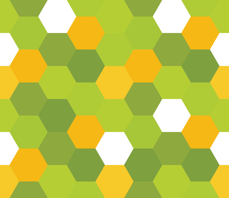 Seamless geometric pattern. Colorful infinity abstract honeycomb geometrical background. Sexangle, hexagon background. Vector illustration.