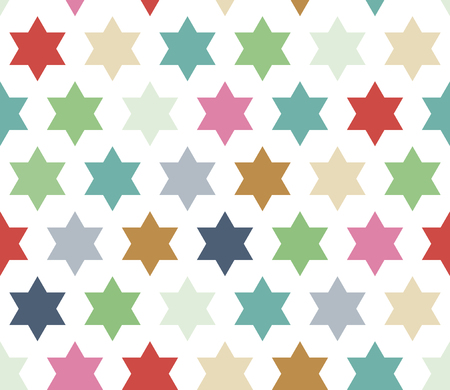Hexagonal star background. Seamless geometric pattern with stars. Seamless abstract geometrical background. Vector illustration. Ilustração