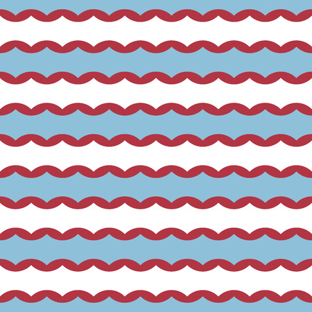 Vector seamless pattern with wavy stripes. Modern stylish texture. Repeating pastel background