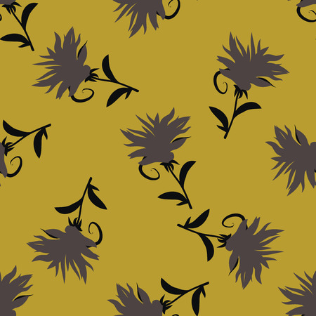 Seamless flower pattern. Floral background. Abstract seamless background. Stock Illustratie