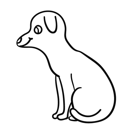 7528 Drawing Line Dog Stock Vector Illustration And Royalty Free