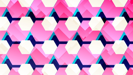 Colorful abstract poster with hexagon, geometric shapes. Geometric banner. Vector illustration.