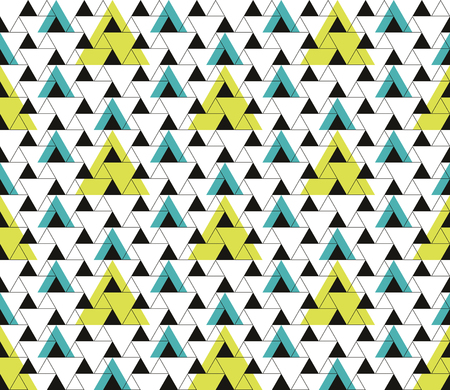 Triangular seamless geometric pattern. Seamless abstract triangle geometrical background. Modern Infinity geometric pattern. Vector illustration.