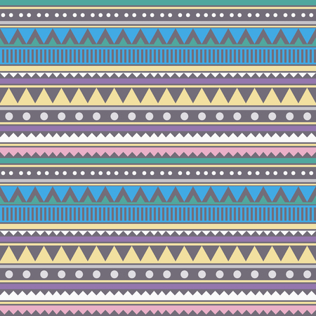 Abstract geometrical seamless pattern. Linear tribal background. Vector illustration. Иллюстрация