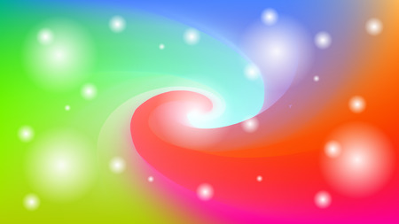 Colorful blurred swirl background with stars, lights. Modern abstract gradient card. Business poster. Vector illustration.