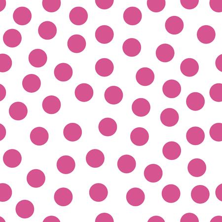 Colored circles on white background. Seamless retro circle pattern. Dotted round seamless background, pattern, ornament for wrapping paper, fabric, textile, website, wallpaper. Vector illustration.