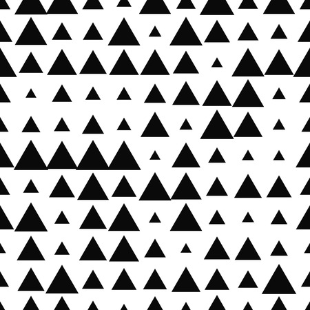 Halftone seamless abstract background with triangles. Infinity geometric pattern. Vector illustration.