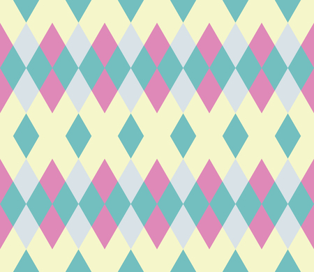 Seamless pattern with rhombus. Infinity background of geometric shapes. Pattern with colorful mosaic pattern. Colorful geometric background. Vector illustration.