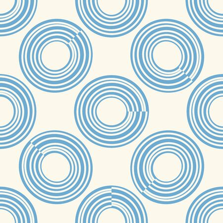 Abstract seamless pattern of circles. Vector illustration. Illustration