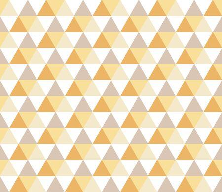 Patrones geométricos sin fisuras con triángulos de colores sobre fondo blanco. Fondo geométrico triángulo abstracto sin fisuras. Patrón geométrico infinito. Ilustración de vector.