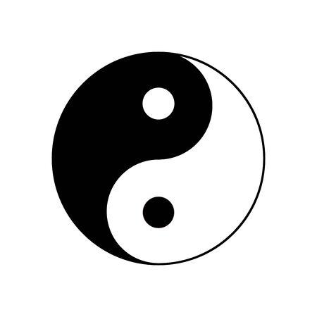 Yin yang symbol icon isolated on white background. Vector illustration.