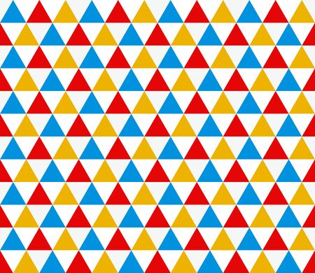 Seamless trapezium geometric pattern. Seamless abstract triangle geometrical background. Infinity geometric pattern. Vector illustration.