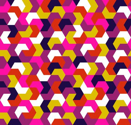 Seamless pattern. Endless background of geometric shapes. Arrow seamless pattern. Geometric pattern. Wallpaper. Vector illustration.