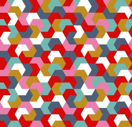 Seamless geometric arrow pattern. Seamless abstract geometrical background. Infinity geometric pattern. Vector illustration.