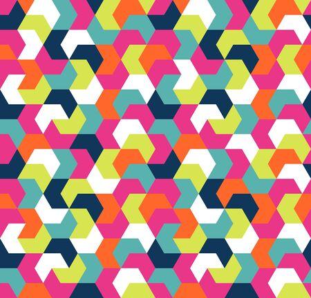 Seamless arrow geometric pattern. Seamless abstract triangle geometrical background. Infinity geometric pattern. Vector illustration. Ilustração