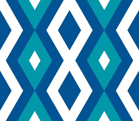Seamless pattern with zigzag, triangle, rhombus, line. Infinity background of geometric shapes. Pattern with colorful mosaic pattern. Colorful geometric background. Vector illustration.