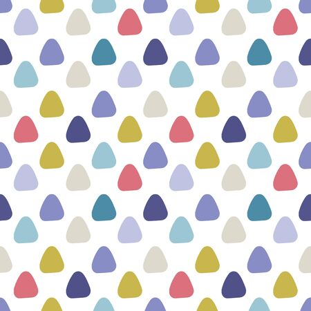 Abstract round triangle seamless pattern. Vector illustration.