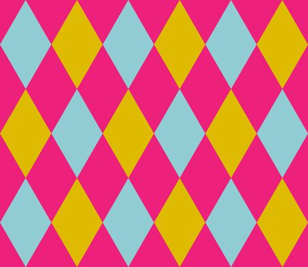 Abstract geometric seamless pattern with rhombuses. Endless background of geometric shapes. Vector illustration.