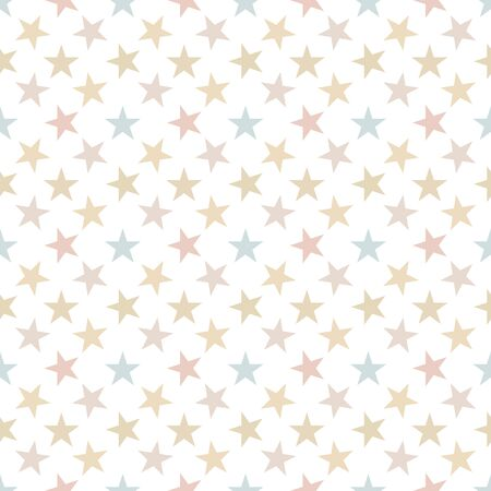 Seamless pattern with stars on white background. Vector illustration. Ilustrace
