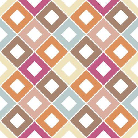Abstract rhombus seamless pattern. Checkered background. Vector illustration.