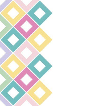 Abstract rhombus card, seamless pattern. Checkered background. Vector illustration. Ilustração