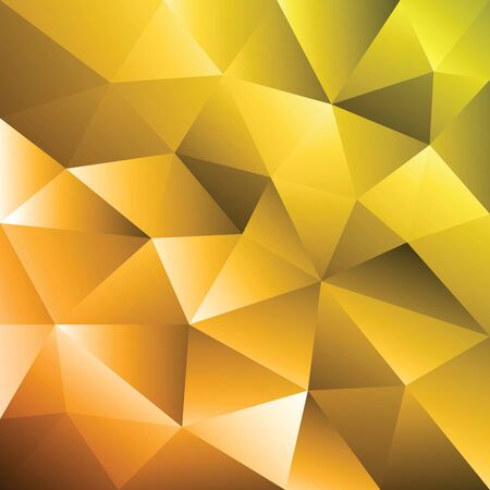 Abstract yellow triangle geometrical background. Gold pattern. Vector Illustration EPS10 Ilustrace