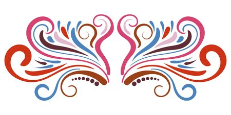 Abstract curly element for design, swirl, curl, divider. Vector illustration.  イラスト・ベクター素材