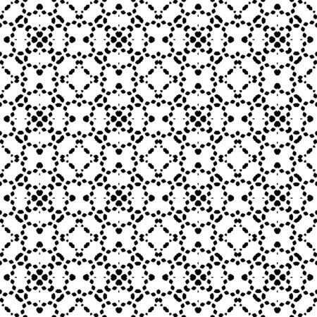 Abstract seamless pattern of different shapes. Ornamental geometric background. Mosaic tile. Wrapping paper. Vector illustration.