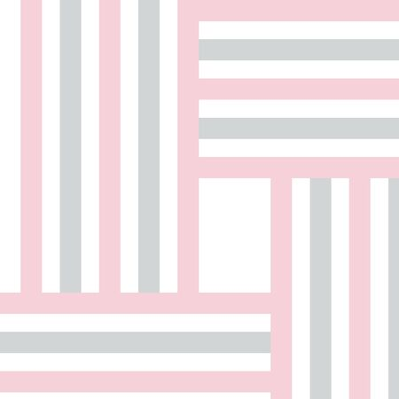Cute abstract background with square geometric shapes, stripes. Geometry card. Vector illustration.