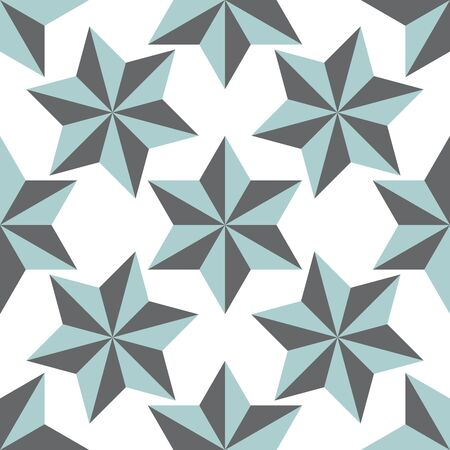 Abstract stars geometric seamless pattern.  Ornamental geometrical background. Mosaic, tail. Wrapping paper. Vector illustration.