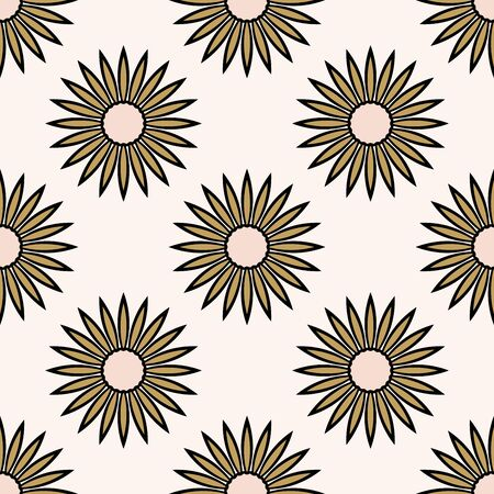 Abstract seamless pattern with mandala flower. Mosaic, tile. Floral background. Vector illustration. 版權商用圖片 - 134559118