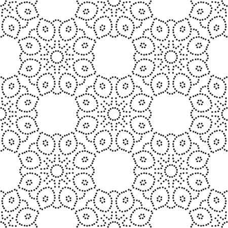 Abstract dotted seamless pattern with mandala flower. Mosaic, tile. Floral background. Vector illustration. 版權商用圖片 - 134559120