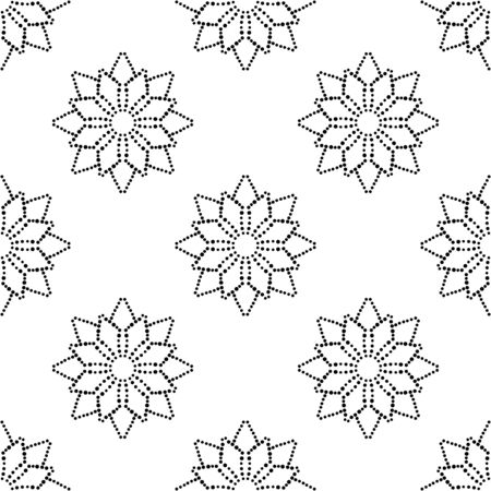 Abstract dotted seamless pattern with mandala flower. Mosaic, tile. Floral background. Vector illustration. 版權商用圖片 - 134559123
