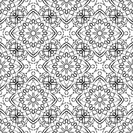 Abstract dotted seamless pattern with mandala flower. Mosaic, tile. Floral background. Vector illustration. 版權商用圖片 - 134559125