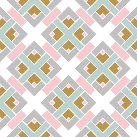 Abstract geometric seamless pattern.  Ornamental geometrical background. Mosaic, tail. Wrapping paper. Vector illustration.