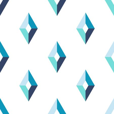 Abstract rhombus geometric seamless pattern. Tile background with geometrical shapes. Wrapping paper. Vector illustration.    Ilustração
