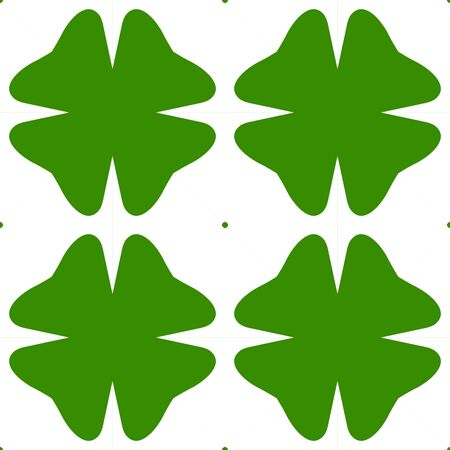 Abstract clover seamless pattern.  Shamrock background. Floral St. Patrick's day wrapping paper. Vector illustration.
