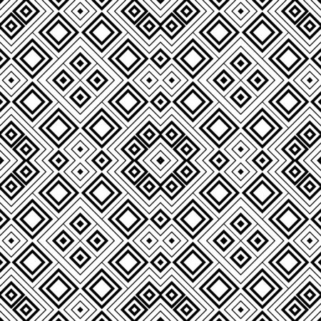 Seamless abstract background with rhombuses. Checkered infinity geometric pattern. Vector illustration. Ilustração