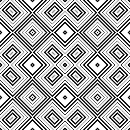 Seamless abstract background with rhombuses. Checkered infinity geometric pattern. Vector illustration. Vektorové ilustrace