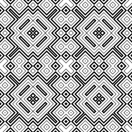 Seamless abstract background with rhombuses. Checkered infinity geometric pattern. Vector illustration.
