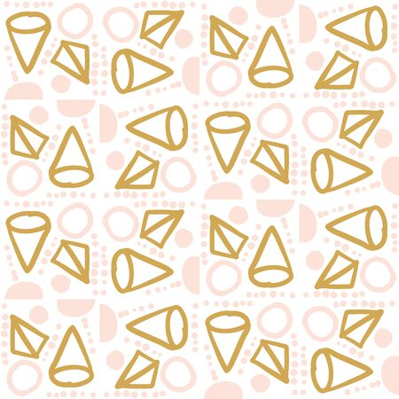Abstract geometric seamless pattern. Tile background. Infinity wrapping paper with different shapes. Creative texture. Vector illustration. Archivio Fotografico - 137781187