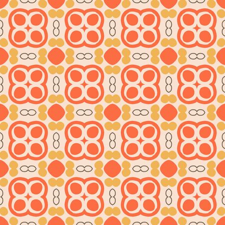 Abstract geometric seamless pattern. Tile background. Infinity wrapping paper with different shapes. Creative texture. Vector illustration. Archivio Fotografico - 137781797
