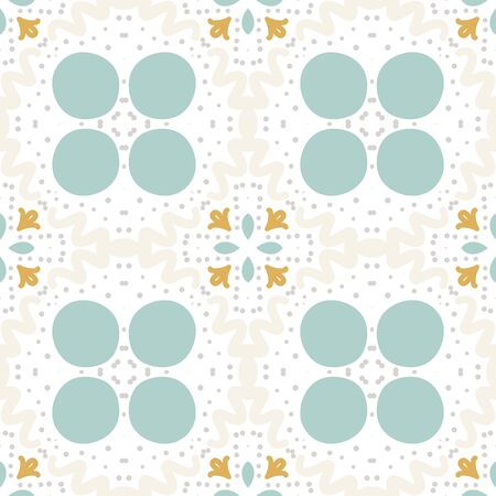 Abstract geometric seamless pattern. Tile background. Infinity wrapping paper with different shapes. Creative texture. Vector illustration. Archivio Fotografico - 137781966
